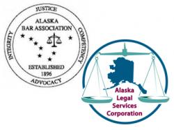 Alaska Bar Association and Alaska Legal Services Corporation Logos