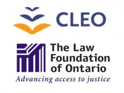 Community Legal Education of Ontario & Law Foundation of Ontario logos