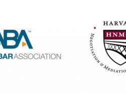 American Bar Association logo and Harvard Negotiation & Mediation Clinical Program logo