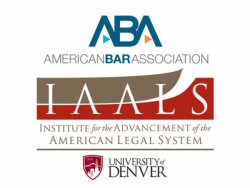 American Bar Association Logo above the Institute for the Advancement of the American Legal System Logo