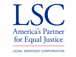 """Legal Services Corporation Logo including the words """"America's Partner for Equal Justice"""""""