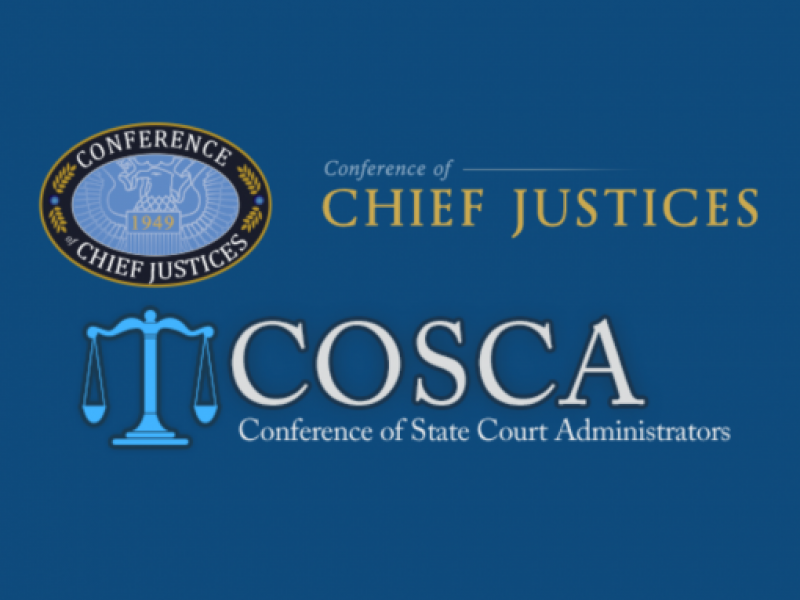 Conference of Chief Justices logo above Conference of State Court Administrators logo