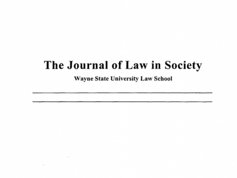 Journal of Law in Society Logo